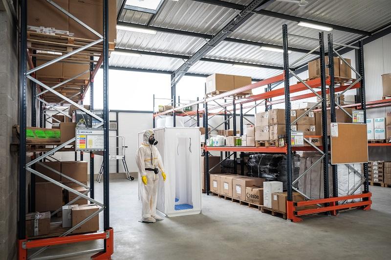 depot amiante stock EPI vente materiel